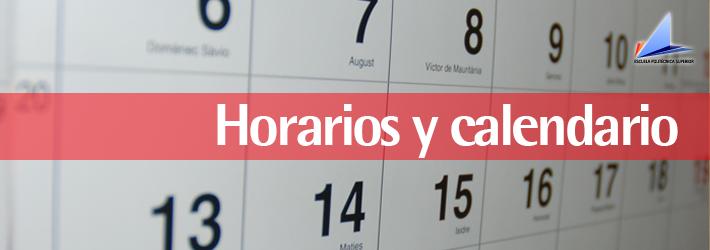 horarios y calendario